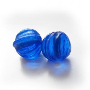 bolitas de cristal azules