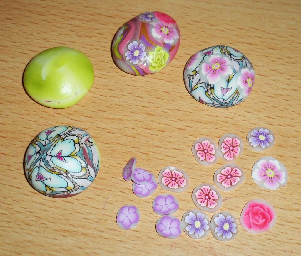 cabuchon fimo flores tutorial diy 4