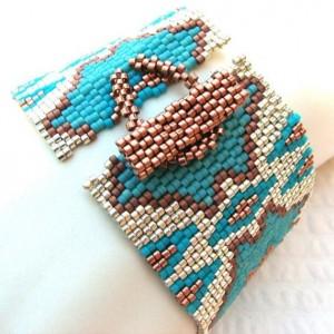 sandfibers bracelet tube beads clasp