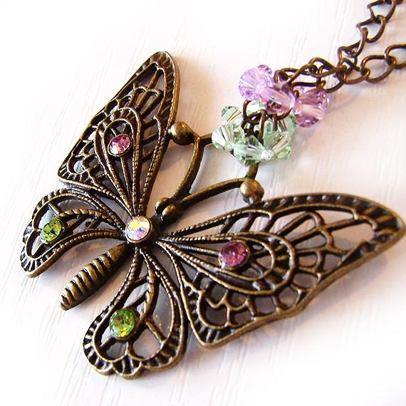 colgante mariposa