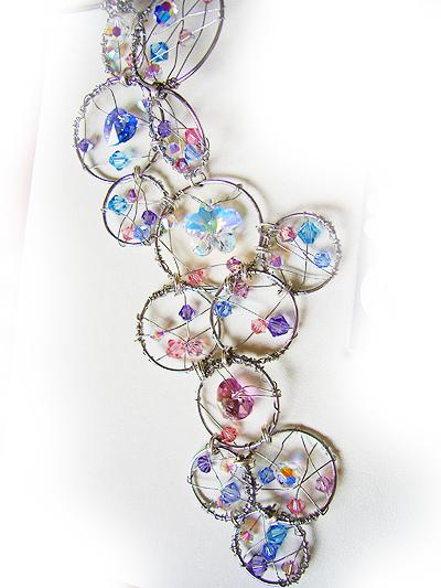 collar swarovski abalorios