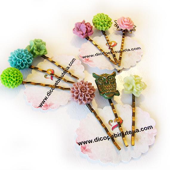 agujas pelo flores