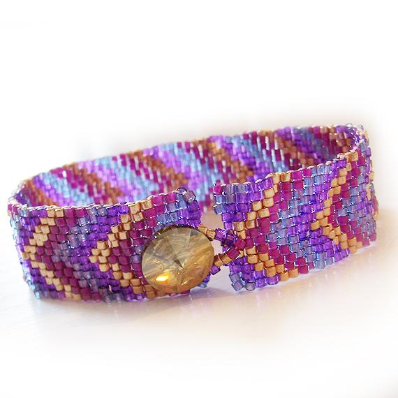 pulsera cristal delica peyote