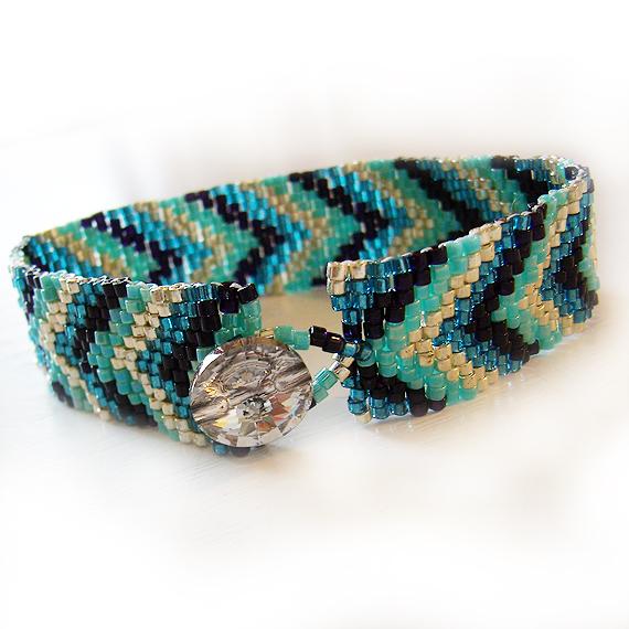 Arrow Head Blue Beadwork Bracelet - Friendship Bracelet (2)