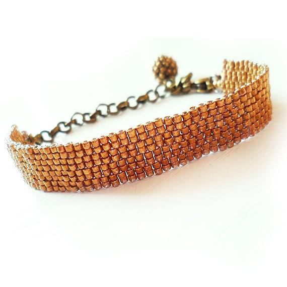 Bronze Glass Beads Bracelet - Dicope Soul Bracelet (2)