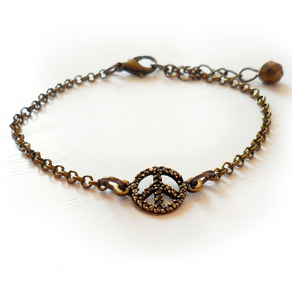 Bronze Peace Bracelet  - Friendship Bracelet