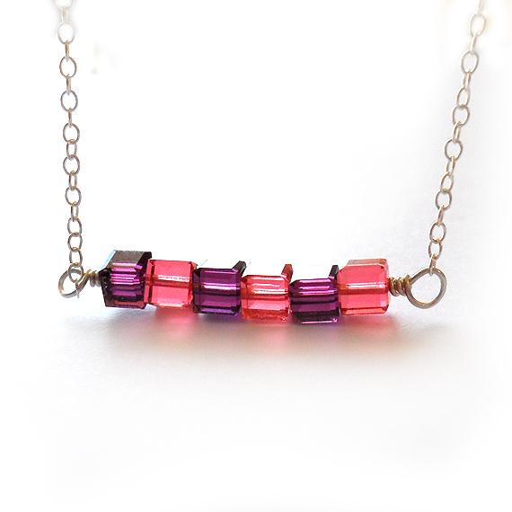 Collar Carmina en Cuadrados de Cristales de Swarovski (3)
