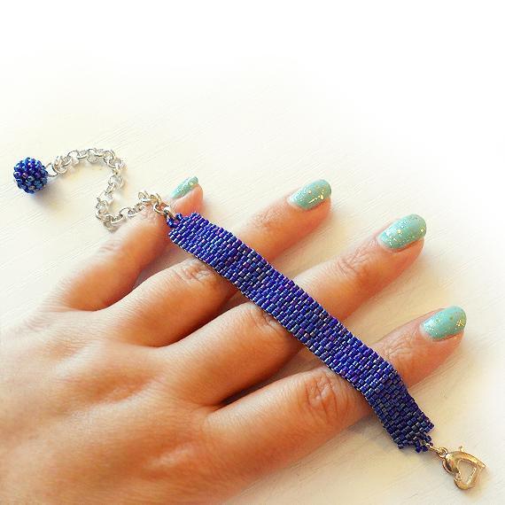 Dark Blue Beads Beadwork Bracelet - Dicope Soul Bracelet (2)