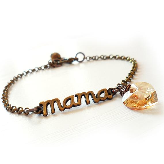 Mama Love Swarovski Heart Bracelet  (3)
