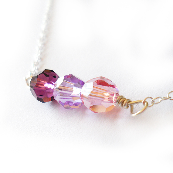 Miranda Necklace with Purple Swarovski Beads (4)