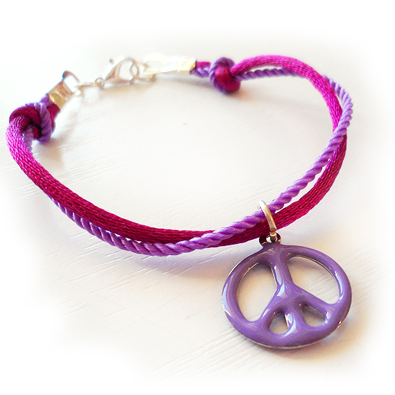 Purple Peace Bracelet -  Friendship Bracelet
