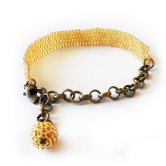 Shiny Gold Beads Bracelet - Charity Bracelet (3)