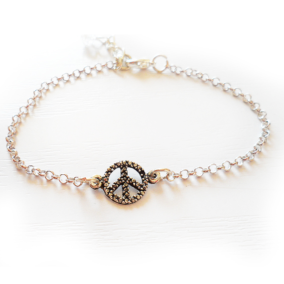 Silver Plated Peace Bracelet Friendship Bracelet (2)