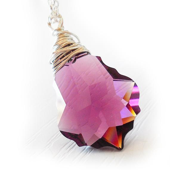 Swarovski Amethyst Purple Barroque Necklace (3)