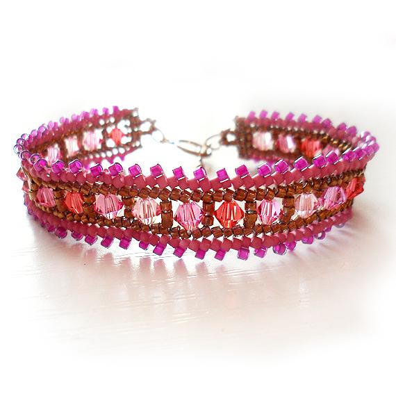 Swarovski Pink Beads Bracelet - Ombre Beads Bracelet (4)