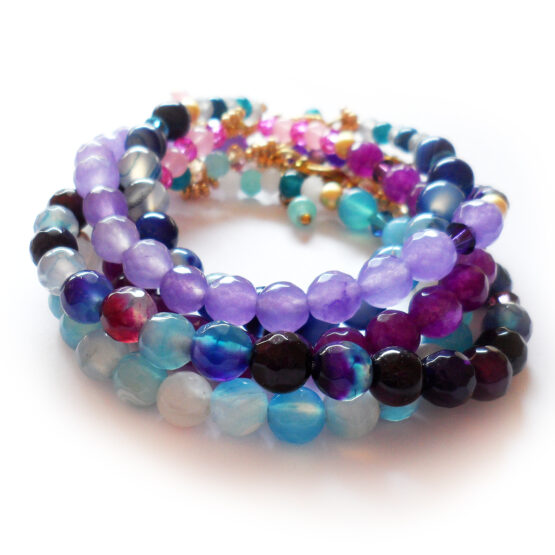 Vacay Bracelets with agate gemstones and glass beads (5)
