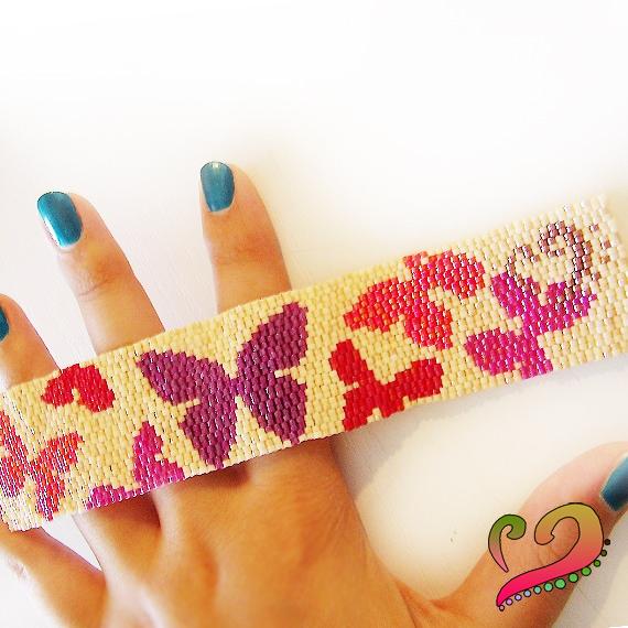 butterfly-peyote-cuff-bracelet-dicope