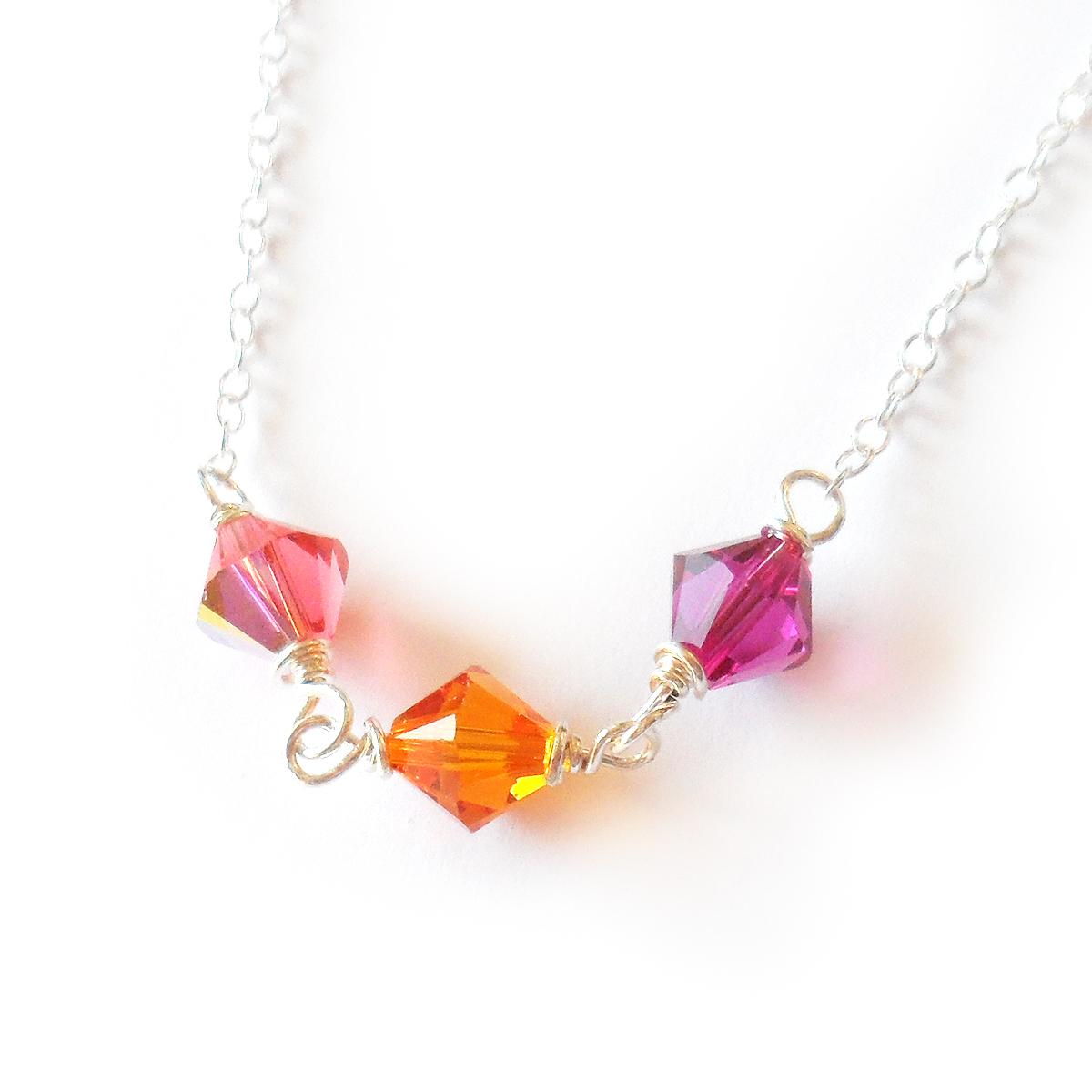 collar-briana-plata-de-ley-y-cristales-de-swarovski-naranja-y-rosa-3