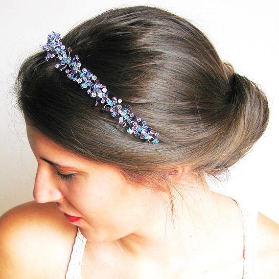 diadema tiara cristales swarovski lila azul pavoreal dicope2