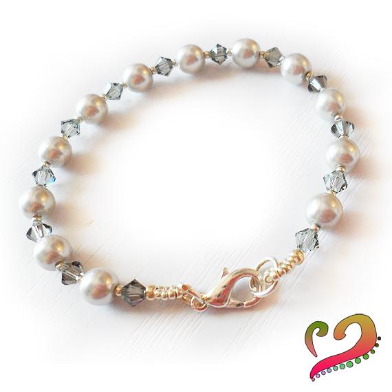 Pulseras perlas y cristales